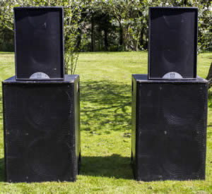 speaker pa hire at cheltenham gloucestershire big friendly audio